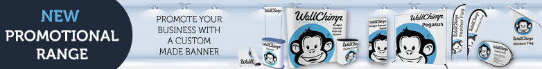 Wall Chimp Outdoor Banner Stands