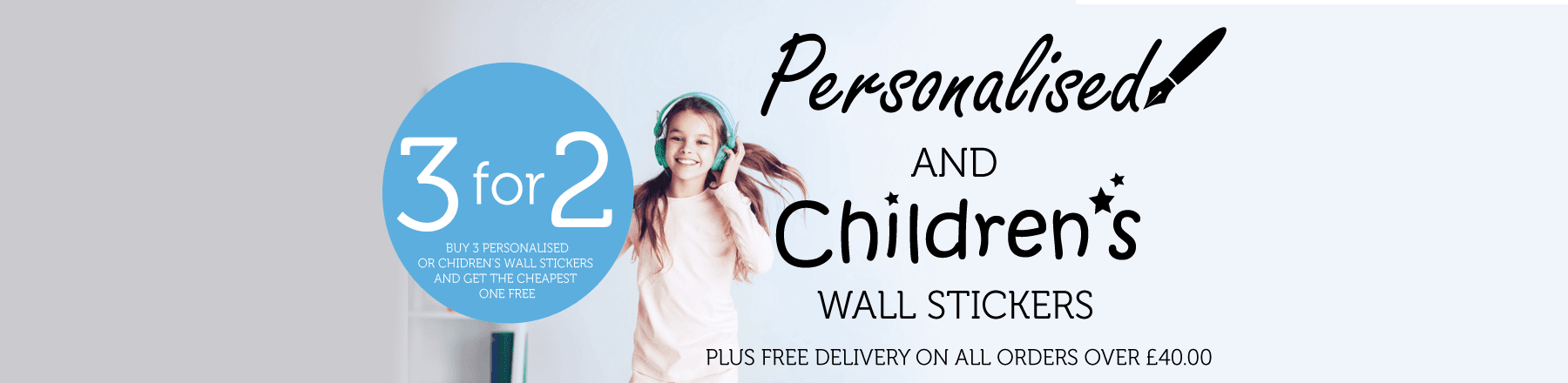 Children's 3 for 2 Banner