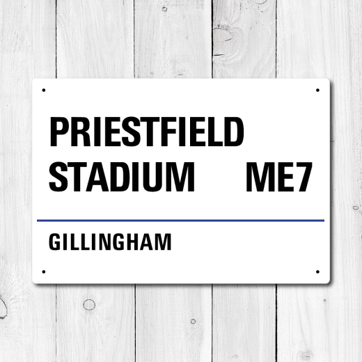 Priestfield Stadium, Gillingham Metal Sign