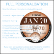 1965 Retro UK Tax Disc Coaster - Personalisation Available