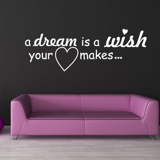 A Dream Wish Wall Sticker Quote