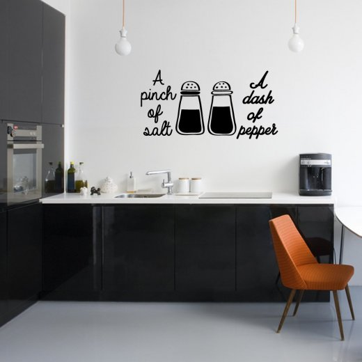 A Pinch Of Salt And Pepper Wall Sticker Quote