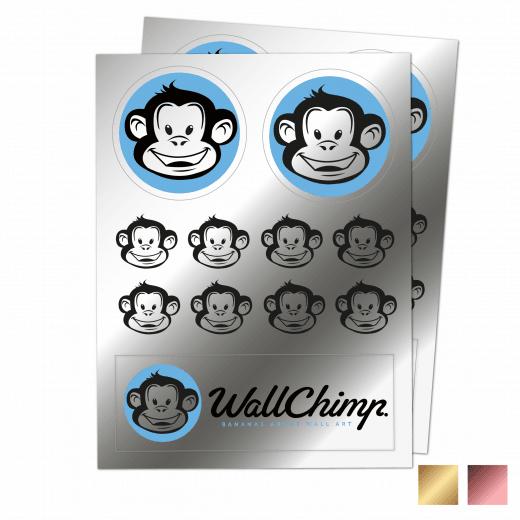A4 Sticker Sheet - Chrome
