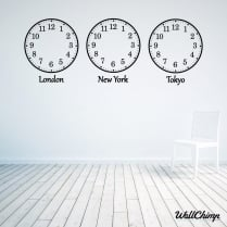 Abigail Roberts Custom Time Zone Wall Sticker Clocks WC619QT