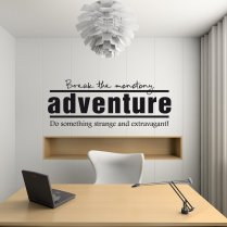 Adventure Wall Sticker Quote