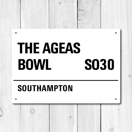 Ageas Bowl, Southampton Metal Sign