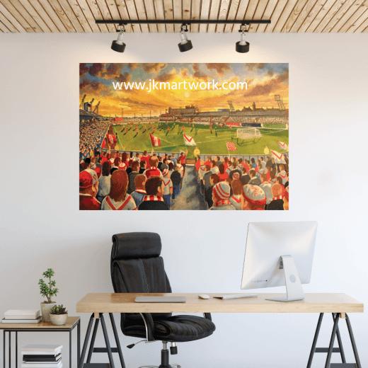 Airdrieonians, Broomfield Park Football Ground Wall Sticker