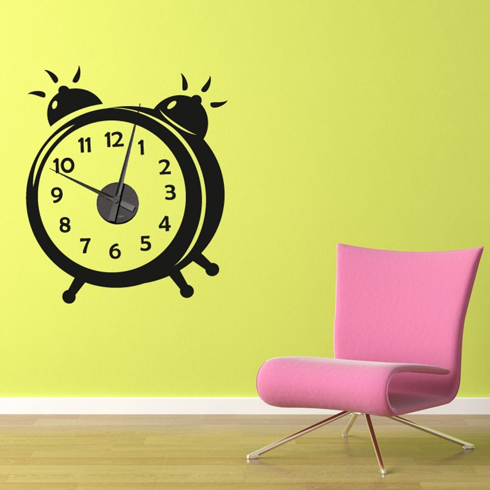 working alarm clock wall sticker wall chimp uk working time zone clocks wall stickers ethical market
