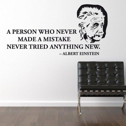 Albert Einstein Wall Sticker Quote