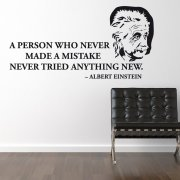 Albert Einstein Wall Sticker Quote