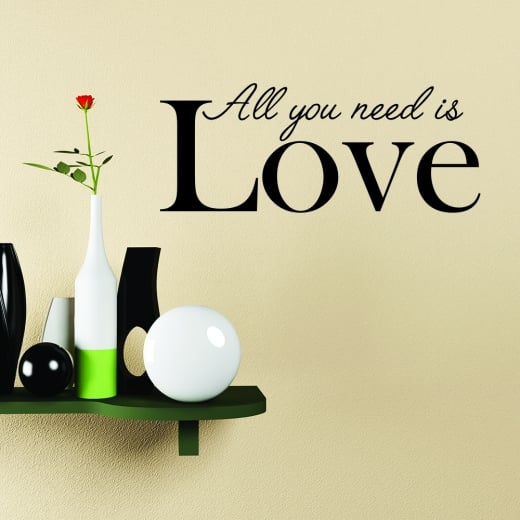 All You Need Is Love Quote Wall Sticker