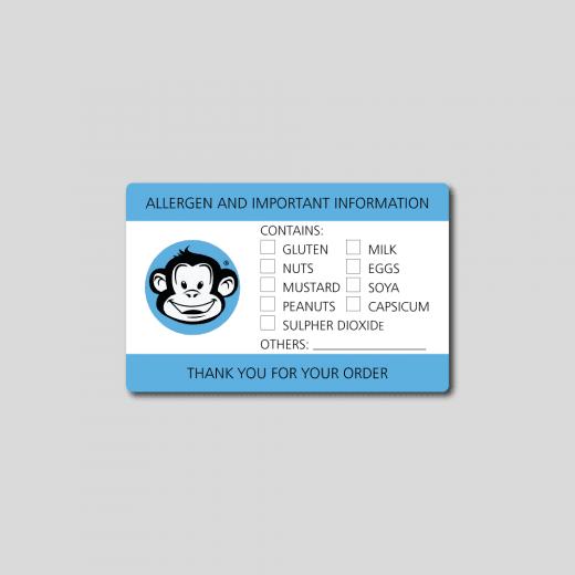 Allergen Rectangle Stickers - Matt