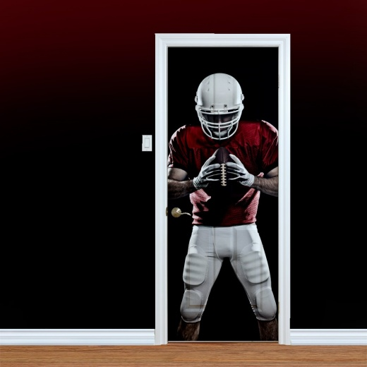 American Footballer Printed Door