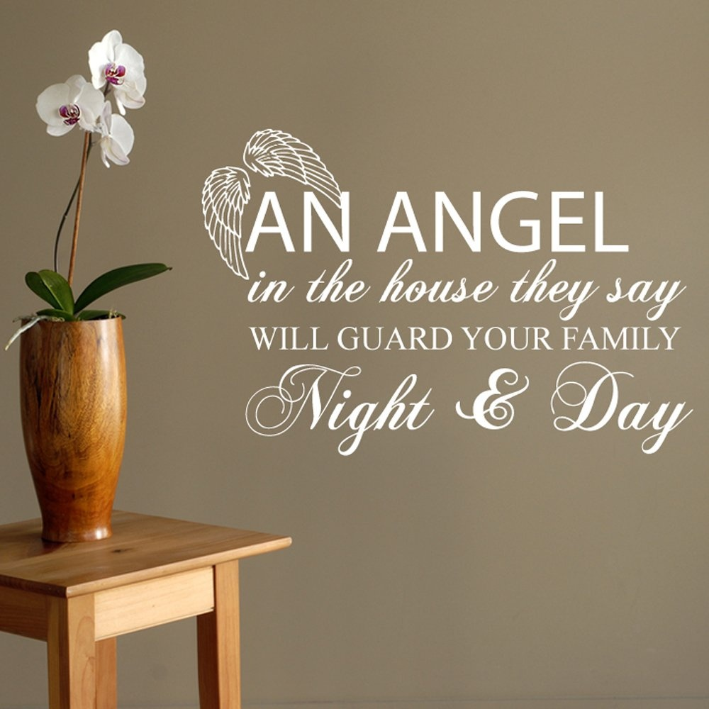 angel in the house wall sticker quote wall chimp uk angel in the house wall sticker quote