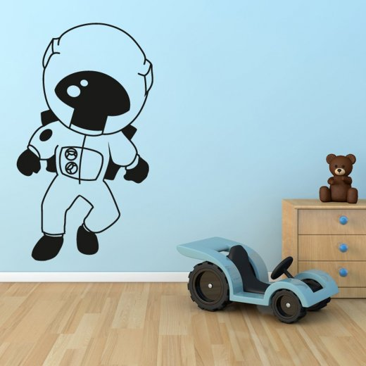 Astronaut in Space Wall Sticker - Wall Chimp UK.