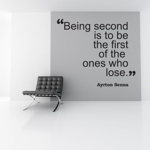 Ayrton Senna Motivational Sports Wall Sticker Quote