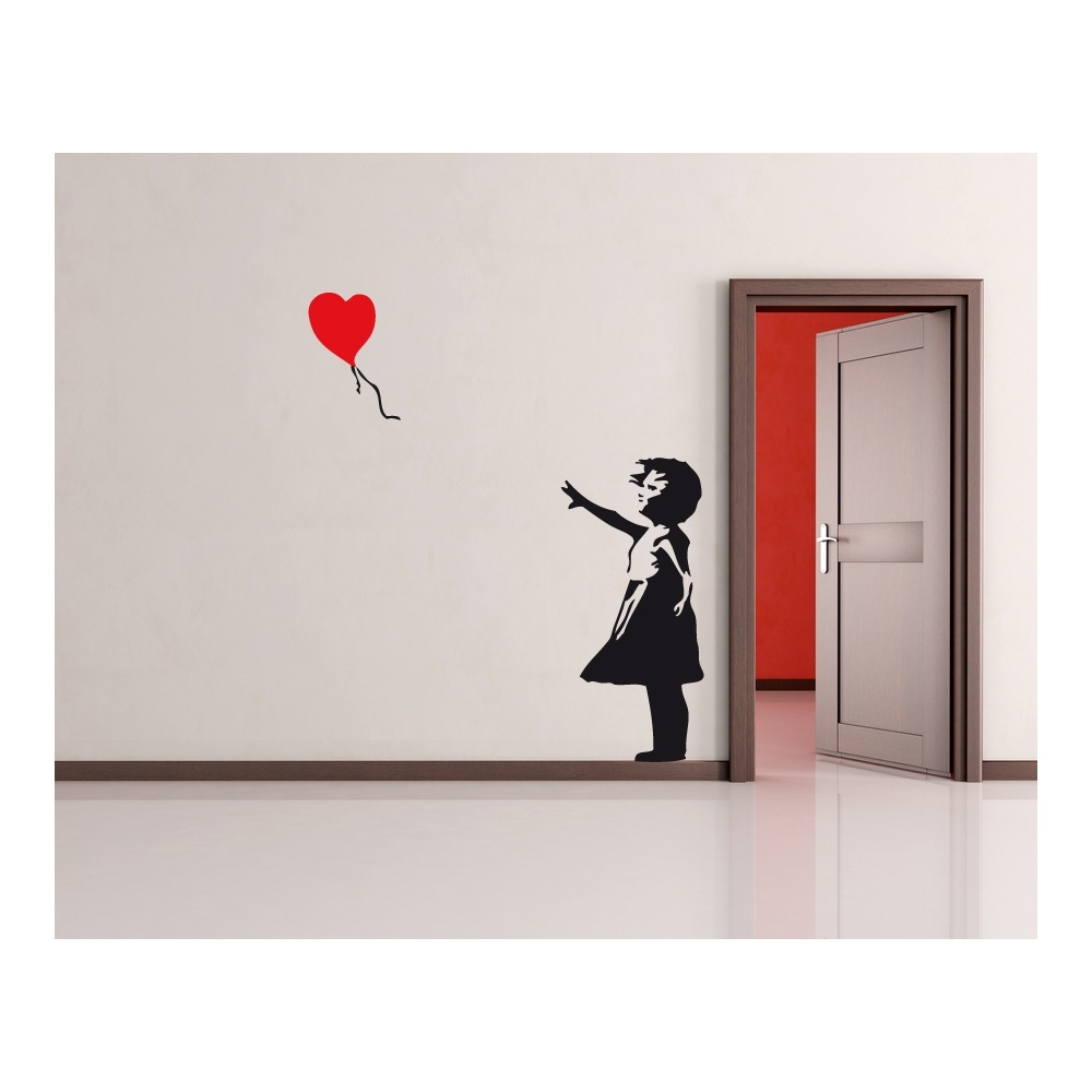 banksy balloon girl wall sticker banksy hooligan wall sticker by the vinyl biz wall stickers