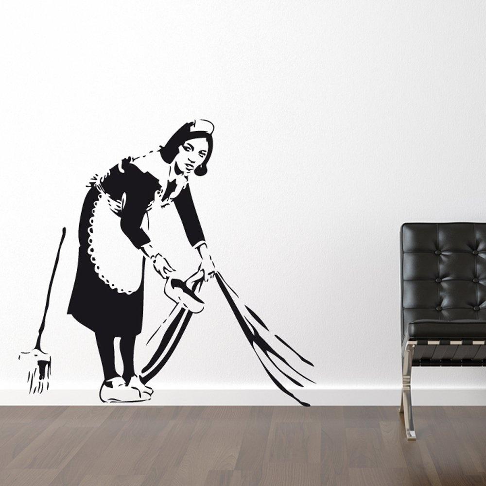 banksy maid wall sticker wall chimp uk banksy panda wall sticker wall stickers