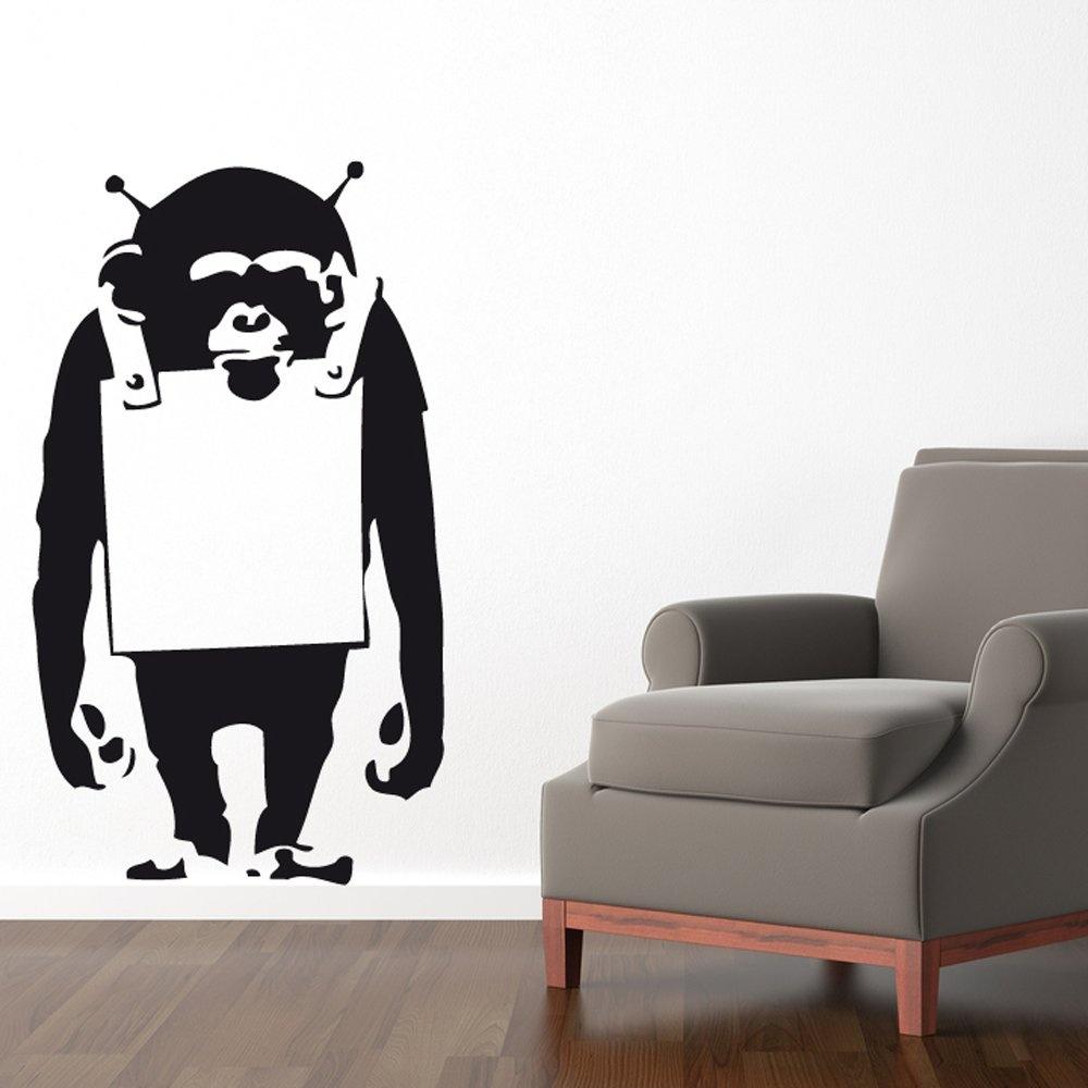 banksy monkey wall sticker wall chimp uk banksy balloon girl wall sticker wall stickers from fads
