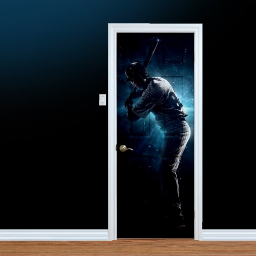 Baseball Player UV Printed Door