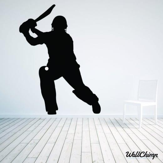 Batsman Cricketer Wall Sticker