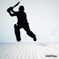 Batsman Cricketer Wall Sticker