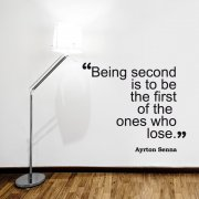 Being Second Wall Sticker Quote