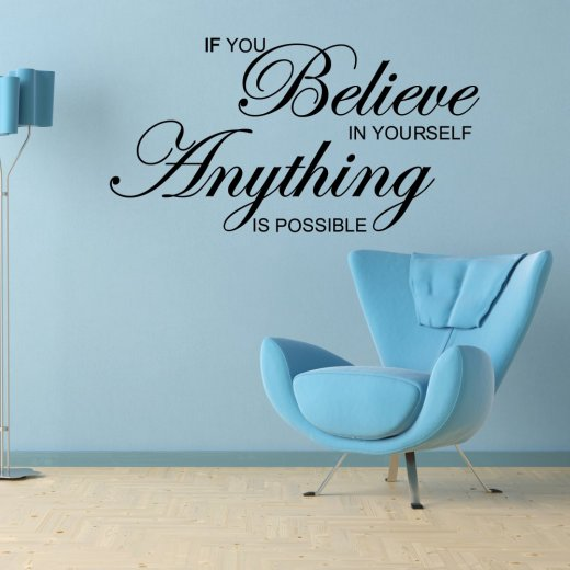 Believe In Yourself Wall Sticker Quote