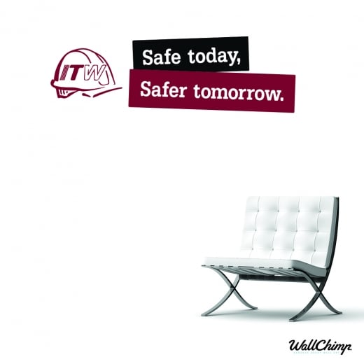 Ben West Safe Today Logo Wall Stickers x 5 WC358QT
