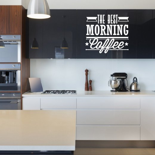 Best Morning Coffee Wall Sticker Quote
