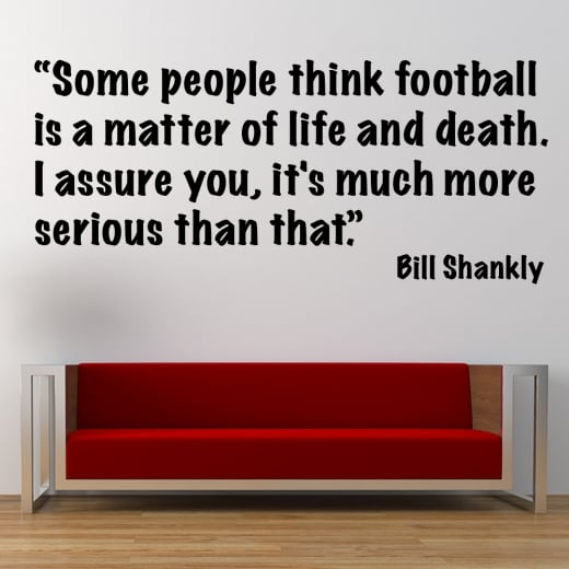 WallChimp Bill Shankly Football Wall Sticker Quote