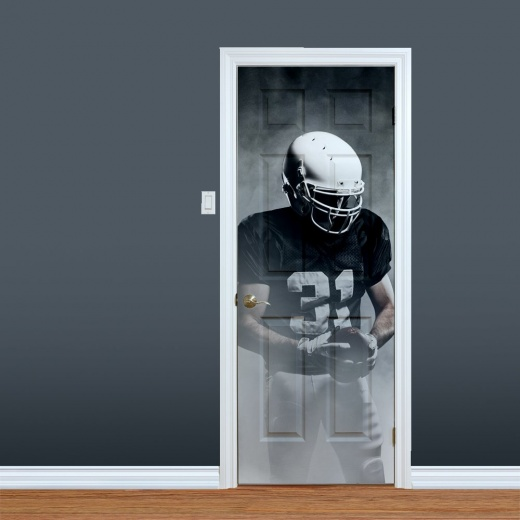 Black & White American Football Printed Door