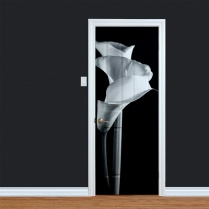 Black & White Printed Flower Door
