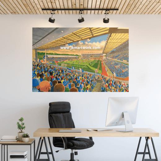 Blackburn Rovers, Ewood Park Football Ground Wall Sticker