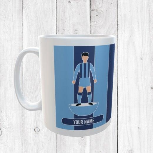 Blue & Light Blue Football Mug