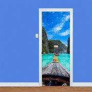 Blue Sea Boat Ride Printed Door