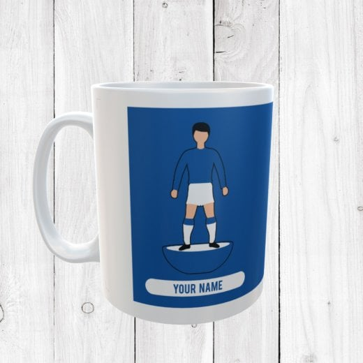 Blue & White Football Mug