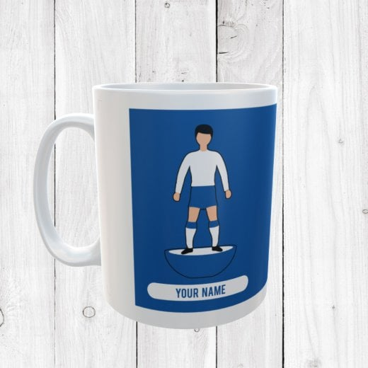 Blue & White Football Mug