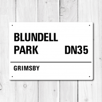 Blundell Park, Grimsby Metal Sign