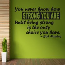 Bob Marley Strength Wall Sticker Quote