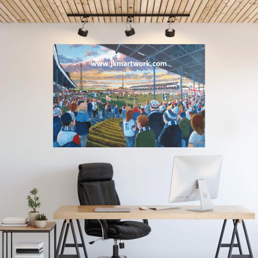 Bolton Wanderers, Brunden Park Football Ground Wall Sticker