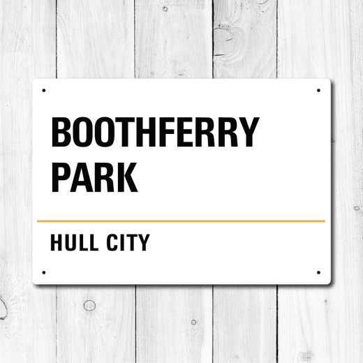 Boothferry Park, Hull City Metal Sign
