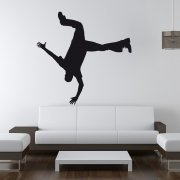 Break Dancer Hand Stand Wall Sticker