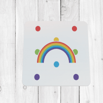 Bright Rainbow Coaster