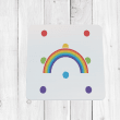 Bright Rainbow Coaster