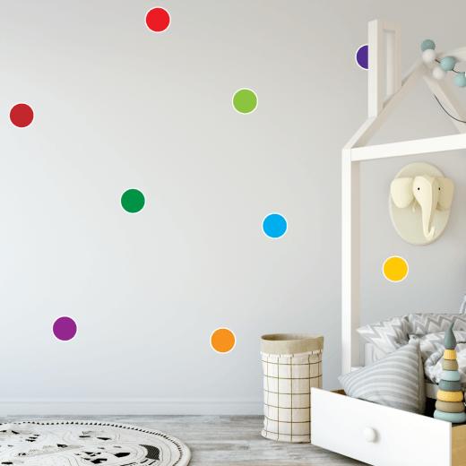 Bright Rainbow Polka Dot Sticker Pack