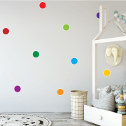 Bright Rainbow Polka Dot Sticker Pack
