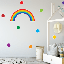 Bright Rainbow & Polka Dot Sticker Pack