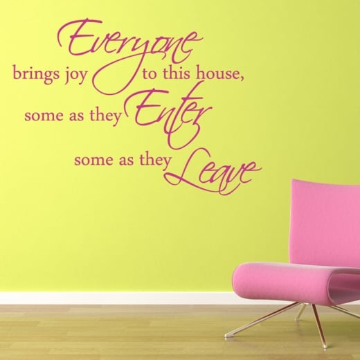 Brings Joy Wall Sticker Quote