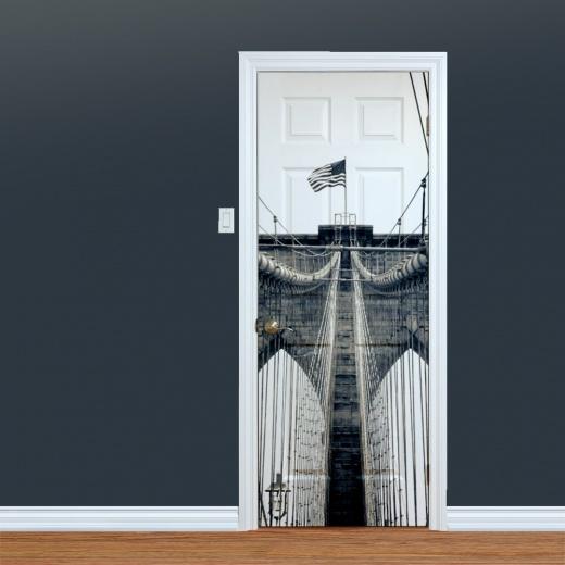 WallChimp Brooklyn Bridge Printed Door